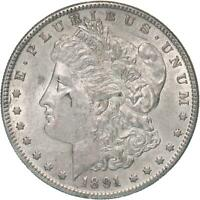 1891 S MORGAN SILVER DOLLAR AU SLIDER SEE PHOTOS C312