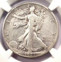 1921-P WALKING LIBERTY HALF DOLLAR 50C COIN 1921 - NGC VF DETAILS -  DATE