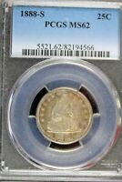 1888   S PCGS MS62 SEATED LIBERTY QUARTER    B18059