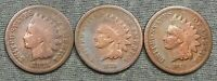 LOT OF 3 INDIAN HEAD CENTS   1871 1872 & 1873