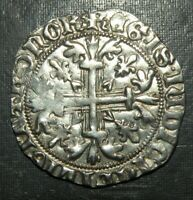 MEDIEVAL COIN CRUSADER TEMPLAR CROSS LARGE SILVER ANCIENT AN