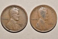 1916 D, 1916 LINCOLN WHEAT CENT PENNIES