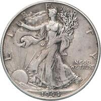1944 S WALKING LIBERTY HALF DOLLAR 90 SILVER ABOUT UNCIRCULATED AU