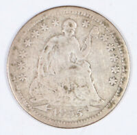 1855 SEATED SILVER HALF DIME WITH ARROWS 5C