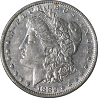 1882-O/S MORGAN SILVER DOLLAR - VAM 5 - WEAK GREAT DEALS FROM THE EXECUTIVE COIN