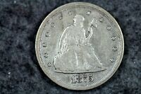 ESTATE FIND 1875   S SEATED LIBERTY TWENTY CENT PIECE   J029