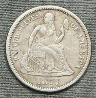 1877 CC SEATED LIBERTY DIME