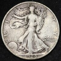 1928-S WALKING LIBERTY HALF DOLLAR CHOICE FINE SHIPS FREE E332 UCE