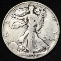 1928-S WALKING LIBERTY HALF DOLLAR CHOICE FINE SHIPS FREE E333 RCE