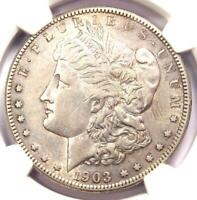 1903-S MORGAN SILVER DOLLAR $1 - NGC EXTRA FINE  DETAIL EF -  DATE - LOOKS AU