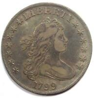 1799 DRAPED BUST SILVER DOLLAR $1 - EXTRA FINE  DETAILS -  TYPE COIN