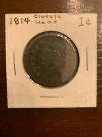 1814 CLASSIC HEAD LARGE CENT COIN