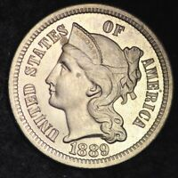 1889 THREE CENT NICKEL PIECE PROOF SHIPS FREE E161 QETX
