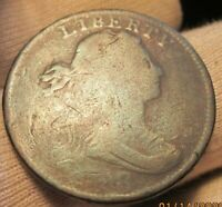 1798 OVER 7 DRAPED BUST LARGE CENT