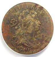 1796 DRAPED BUST LARGE CENT 1C - ANACS EXTRA FINE 40 DETAIL CORROSION, EF40 -  COIN