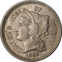 1865 THREE 3 CENT NICKEL GREAT DEALS FROM THE EXECUTIVE COIN COMPANY