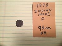 1872 OLD INDIAN HEAD PENNY