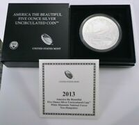 2013 P ATB FIVE OUNCE SILVER WHITE MOUNTAIN UNCIRCULATED COI