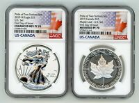 2019 PRIDE OF TWO NATIONS LIMITED EDITION COINS SET NGC PF70