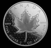 2020 2OZ PURE SILVER COIN PULSATING MAPLE LEAF OPTICAL EFFEC