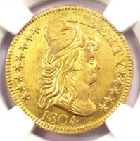 1804 CAPPED BUST GOLD HALF EAGLE $5   CERTIFIED NGC AU DETAILS    GOLD COIN