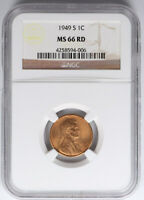 1949-S LINCOLN WHEAT CENT NGC MINT STATE 66 RD RED 1C