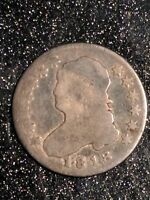 1818 CAPPED BUST QUARTER TOUGH EARLY DATE SCARCE TYPE SOLID