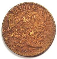 1794 LIBERTY CAP LARGE CENT 1C COIN - FINE / VF DETAILS CORROSION -