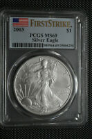 2003 - FIRST STRIKE - $1 SILVER EAGLE PCGS MINT STATE 69