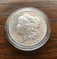 1878-S MORGAN SILVER DOLLAR IN TOP BU CONDITION