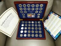 1999 2008 COMPLETE SET OF 50 STATE QUARTERS .IN WOODEN CASE