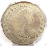 1807 DRAPED BUST HALF DOLLAR 50C COIN O-106 - CERTIFIED PCGS FINE DETAILS