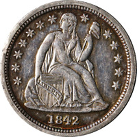 1842-P SEATED LIBERTY DIME GREAT DEALS FROM THE EXECUTIVE COIN COMPANY