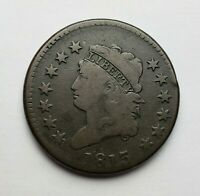 1813 CLASSIC HEAD LARGE CENT S-292 SMOOTH GOOD