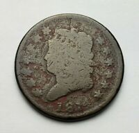 1814 CLASSIC HEAD LARGE CENT DAMAGED