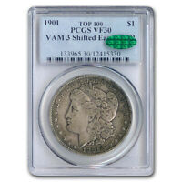 1901 MORGAN DOLLAR VF-30 PCGS CAC VAM-3 SHIFTED EAGLE DDR - SKU208322