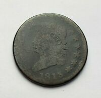 1813 CLASSIC HEAD LARGE CENT CLOSE STAR S-293