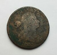 1803 DRAPED BUST LARGE CENT VG CORRODED
