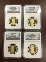 2014 S NGC PF70 ULTRA CAMEO 4 COIN PRESIDENTIAL DOLLAR SET EARLY RELEASE