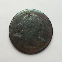1801 DRAPED BUST LARGE CENT S-213 WAVY DIE BREAKS R2 CLEANED