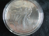 1999   $1  SILVER  EAGLE, GEM BRILLIANT UNCIRCULATED, ENCAPSULATED