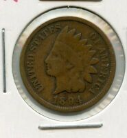 1894 INDIAN HEAD CENT PENNY 1C COIN - RY547