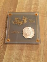 1885 MORGAN SILVER DOLLAR ENCASED FROM THE GOOD OLD DAYS  UNCIRCULATED??