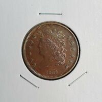 1835 CLASSIC HEAD HALF CENT   COHEN 1 R 1   EXTREMELY FINE T