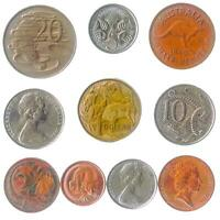 10 DIFFERENT COINS FROM AUSTRALIA. OCEANIAN MONEY. OLD COLLECTIBLE CURRENCY