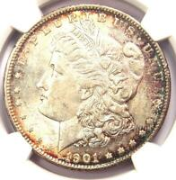 1901-S MORGAN SILVER DOLLAR $1 COIN - CERTIFIED NGC AU58 - LOOKS MS / UNC