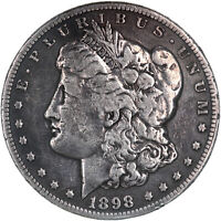 1898 S MORGAN SILVER DOLLAR FINE DETAILS HARSHLY CLEANED SEE PHOTOS C987