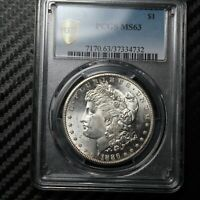 1886 S MORGAN SILVER DOLLAR PCGS MINT STATE 63 34732