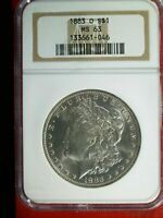 1883 O VAM 39A PITTED OBVERSE & PITTED REVERSE NGC MS 63 SHIPS FREE