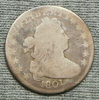 1801 DRAPED BUST DIME
